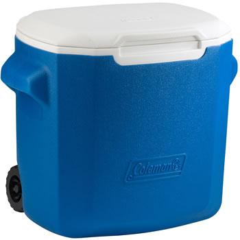 Image of Coleman 28QT Performance Wheeled Cool Box in Blue