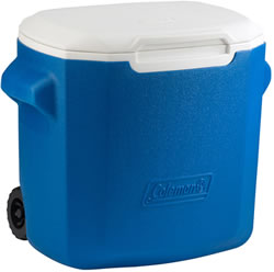 Small Image of Coleman 28QT Performance Wheeled Cool Box in Blue