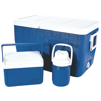 Image of Coleman Cool Box Polylite 48Qt Combo Blue Cooler
