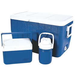 Small Image of Coleman Cool Box Polylite 48Qt Combo Blue Cooler