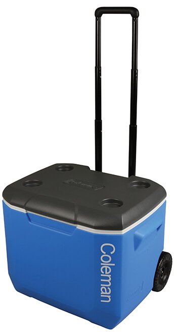 Image of Coleman 60QT Performance Wheeled Cool Box in Blue
