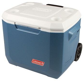 Image of Coleman Cool Box - 50qt Xtreme Wheeled Cooler - Blue/White