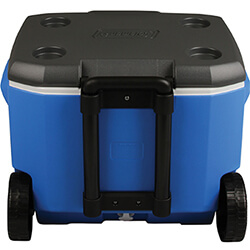 Extra image of Coleman 60QT Performance Wheeled Cool Box in Blue