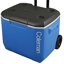 Coleman 60QT Performance Wheeled Cool Box in Blue