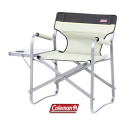 Small Image of Coleman Deck Chair With table - Khaki