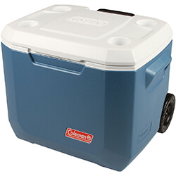 Small Image of Coleman Cool Box - 50qt Xtreme Wheeled Cooler - Blue/White