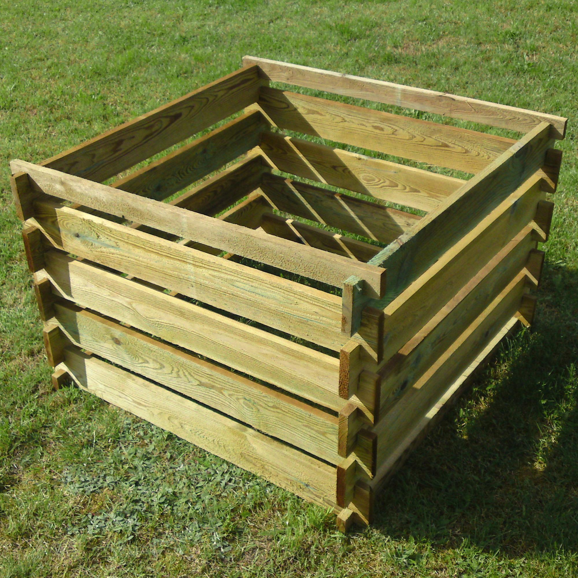 Apollo Wooden Garden Composter 163 29 99 Garden4less Uk Shop