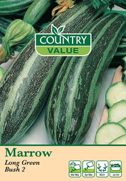 Image of Country Value Long Green Bush 2 Marrow Seeds