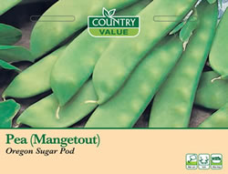 Image of Country Value Oregon Sugar Pod (Mangetout) Pea Seeds