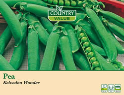 Image of Country Value Kelvedon Wonder Pea Seeds