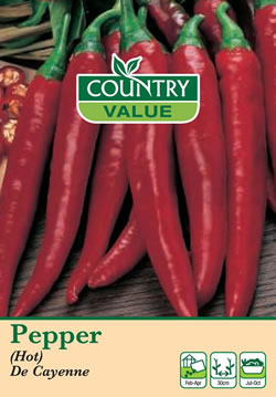 Image of Country Value De Cayenne (Hot) Pepper Seeds