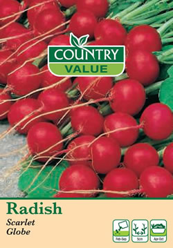 Image of Country Value Scarlet Globe Radish Seeds