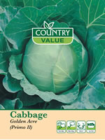 Small Image of Country Value Primo II Cabbage Vegetable Seeds
