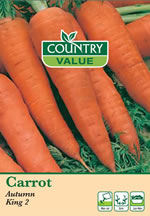 Small Image of Country Value Autumn King Carrot Seeds