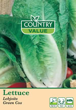 Small Image of Country Value Lobjoits Green Cos Lettuce Seeds