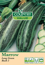 Small Image of Country Value Long Green Bush 2 Marrow Seeds