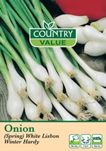 Country Value White Lisbon Winter Hardy Spring Onion Seeds