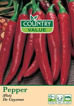 Small Image of Country Value De Cayenne (Hot) Pepper Seeds