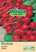 Small Image of Country Value Scarlet Globe Radish Seeds