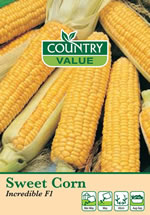 Country Value Incredible F1 Sweetcorn Seeds