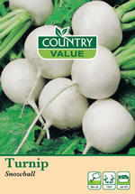Small Image of Country Value Snowball Turnip Seeds
