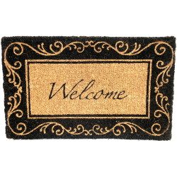 Image of Black Coir Welcome Doormat