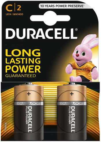 Image of Duracell C Size Batteries - Twin Pack