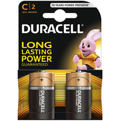 Small Image of Duracell C Size Batteries - Twin Pack