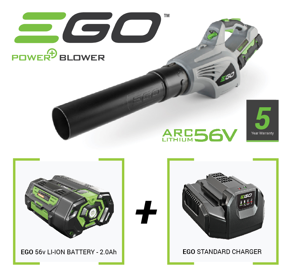 Image of Ego Cordless Leaf Blower with 56v Battery and Charger