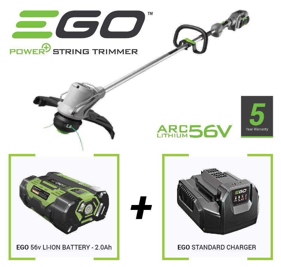 ego cordless grass trimmer with 56v battery and charger. Black Bedroom Furniture Sets. Home Design Ideas