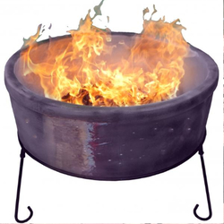 Extra image of Gardeco Atlas Jumbo Purple Chimalin AFC Fire Bowl Grill