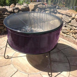 Small Image of Gardeco Atlas Jumbo Purple Chimalin AFC Fire Bowl Grill