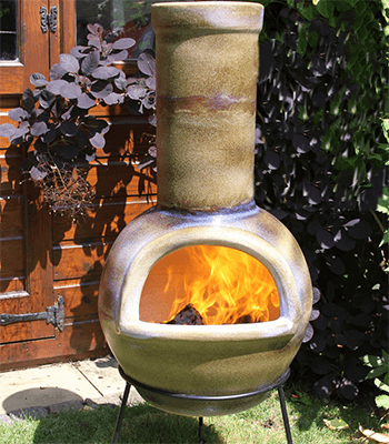Image of Gardeco Sempra Large Matt Brown Chimalin AFC Chimenea