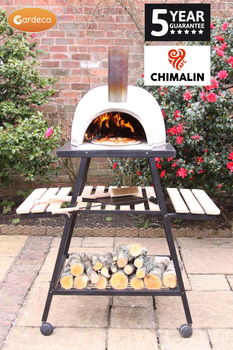 Extra image of Gardeco Pizzaro Traditional Pizza Oven Chimalin AFC With Stand