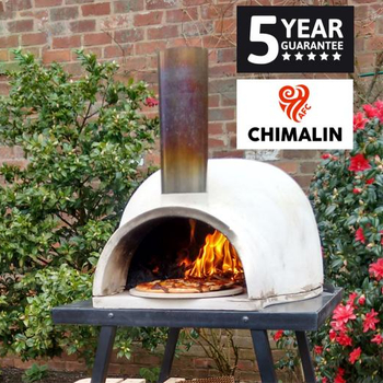 Image of Gardeco Pizzaro Traditional Pizza Oven Chimalin AFC With Stand