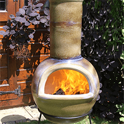 Small Image of Gardeco Sempra Large Matt Brown Chimalin AFC Chimenea