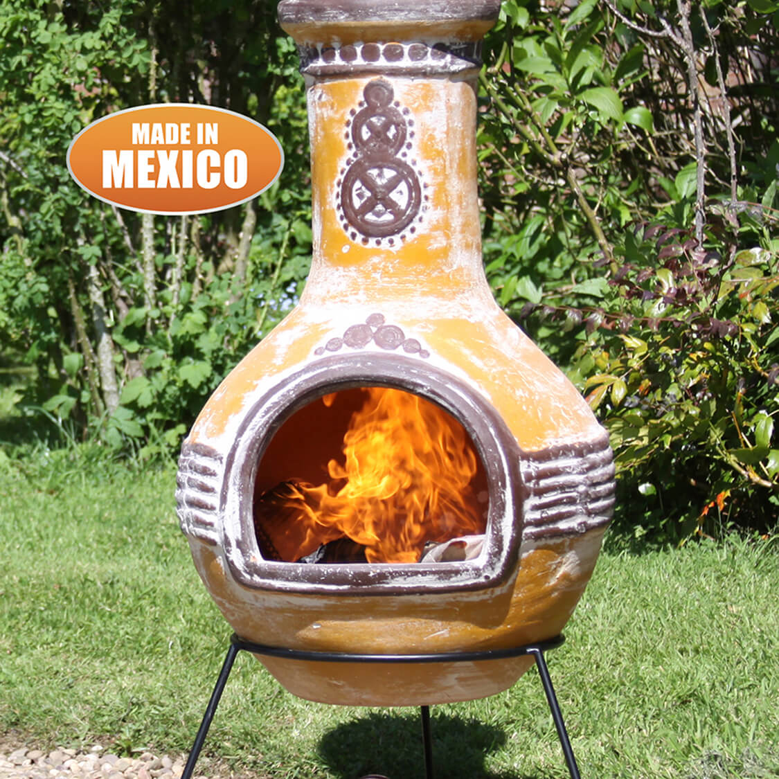 Clay Chiminea Including Traditional Mexican Chiminea