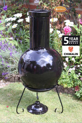 Extra image of Gardeco Sempra Large Black Glazed Chimalin AFC Chimenea