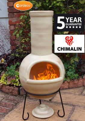 Image of Gardeco Sempra Large Light Brown Chimalin AFC Chimenea