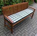 Hardwood Kingston 3 Seater Garden Bench and Bench Cushion