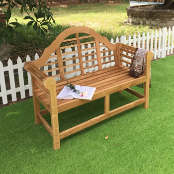 Image of Oak Lutyens Garden Bench - 2 Seater