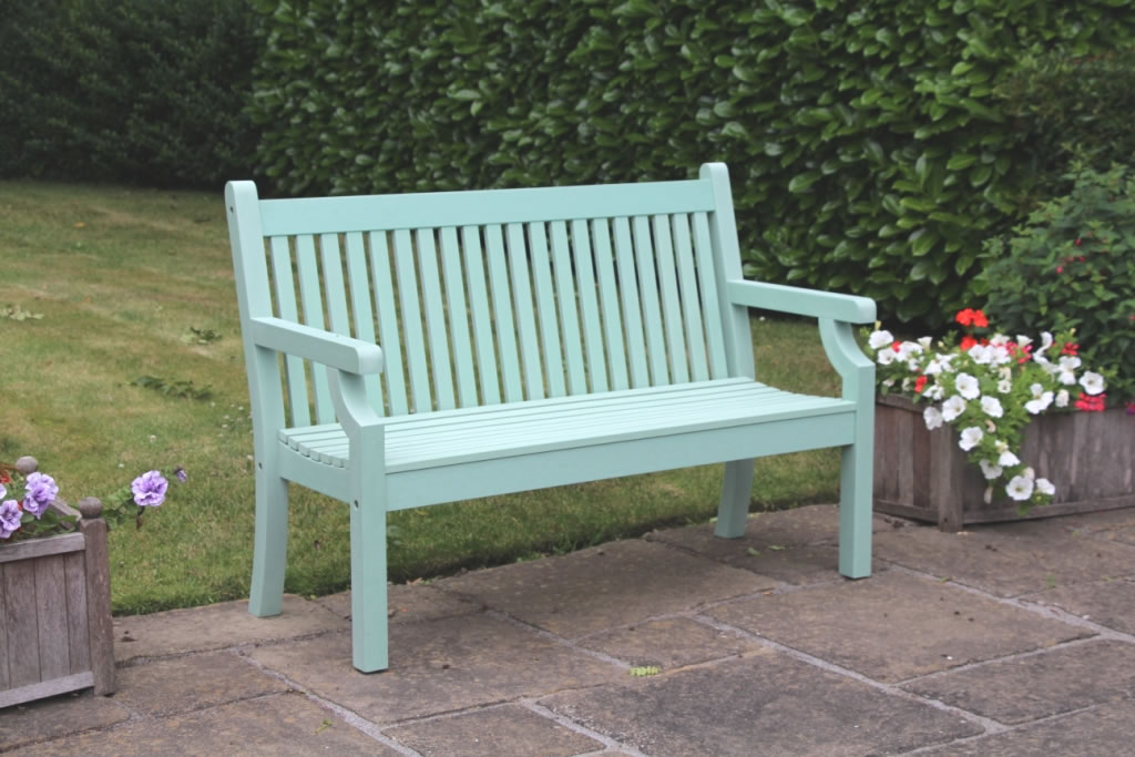 Sandwick Winawood 3 Seater Wood Effect Garden Bench Duck