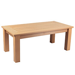 Small Image of Winawood Wood Effect Coffee Table - Teak