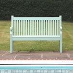 Extra image of Sandwick Winawood 2 Seater Wood Effect Garden Bench - Duck Egg Finish