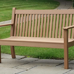 Small Image of Winawood Colvister 3 Seater Garden Bench with Teak Finish