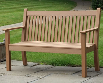 Image of Winawood Colvister 3 Seater Garden Bench with Teak Finish
