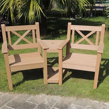Winawood Maywick 2 Seater Garden Love Seat Bench Teak
