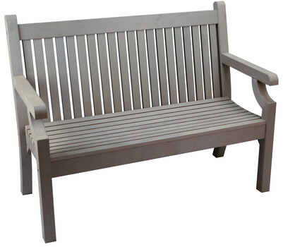 Sandwick Winawood 2 Seater Wood Effect Garden Bench Grey