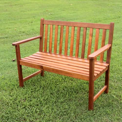 Small Image of FSC Acacia Chaucer 2 Seater Garden Bench