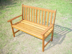Image of FSC Acacia Chaucer 2 Seater Garden Bench